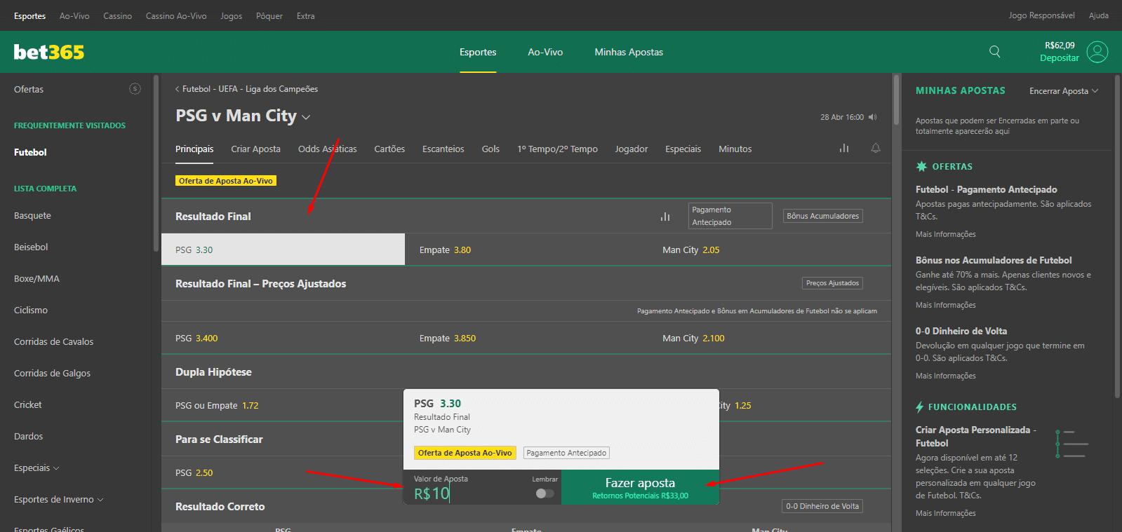 Como apostar no Bet365 - print 9